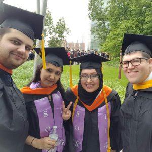 The first MTM cohort celebrates graduating.