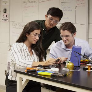 Students learn hands on skills needed to develop sustainable medical technologies.